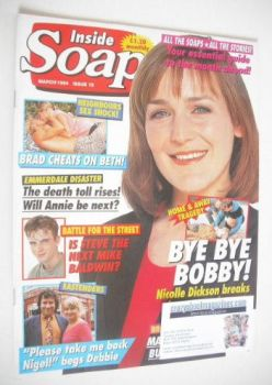 Inside Soap magazine - Nicolle Dickson cover (March 1994)