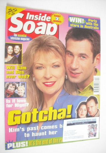 <!--1998-01-10-->Inside Soap magazine - Claire King and Paul Opacic cover (