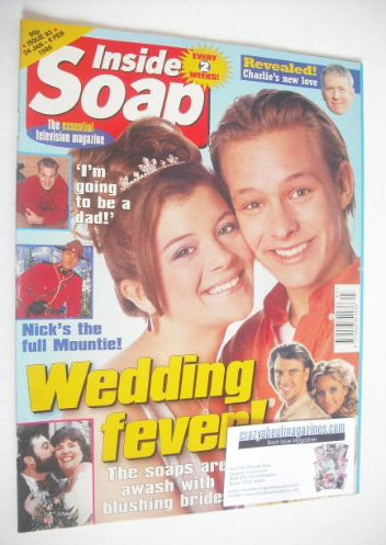 <!--1998-01-24-->Inside Soap magazine - Adam Rickitt and Jane Danson cover