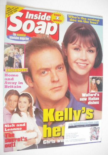 <!--1998-02-07-->Inside Soap magazine - Peter Amory and Adele Silva cover (