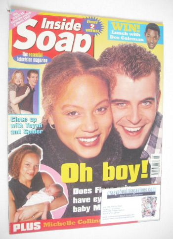 <!--1998-02-21-->Inside Soap magazine - Angela Griffin and Simon Gregson co