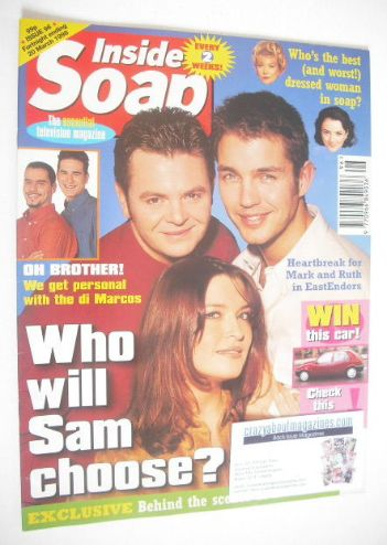 <!--1998-03-07-->Inside Soap magazine - Philip Middlemiss, Tina Hobley and