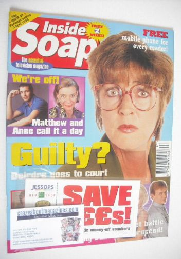 <!--1998-03-21-->Inside Soap magazine - Anne Kirkbride cover (21 March - 3