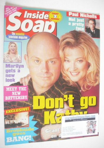 <!--1998-04-04-->Inside Soap magazine - Ross Kemp and Gillian Taylforth cov