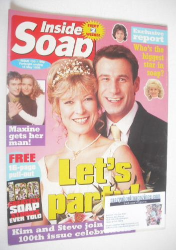 <!--1998-05-02-->Inside Soap magazine - Claire King and Paul Opacic cover (