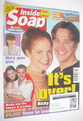<!--1998-05-16-->Inside Soap magazine - Patsy Palmer and Sid Owen cover (16