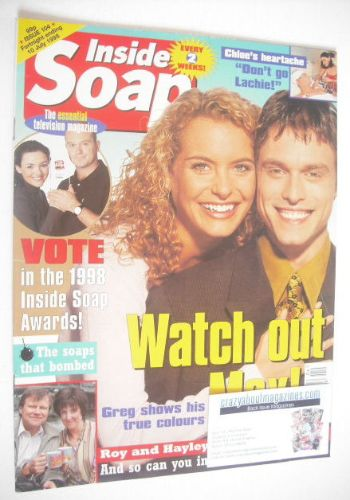 <!--1998-06-27-->Inside Soap magazine - Stephen Billington and Tracy Shaw c