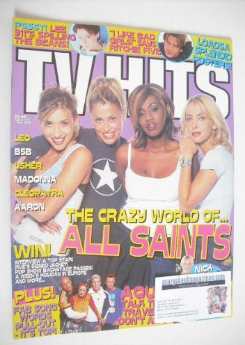 <!--1998-05-->TV Hits magazine - May 1998 - All Saints cover