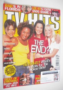 TV Hits magazine - August 1998 - The Spice Girls cover
