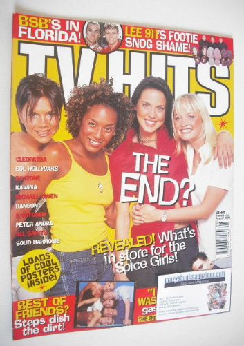 <!--1998-08-->TV Hits magazine - August 1998 - The Spice Girls cover
