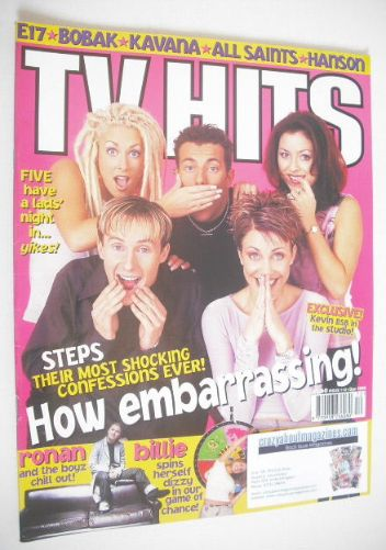 <!--1998-12-->TV Hits magazine - December 1998 - Steps cover