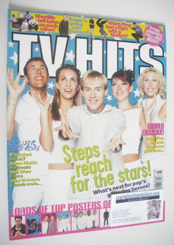 <!--1999-08-->TV Hits magazine - August 1999 - Steps cover