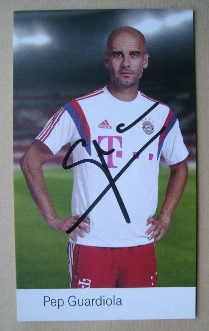 Pep Guardiola autograph