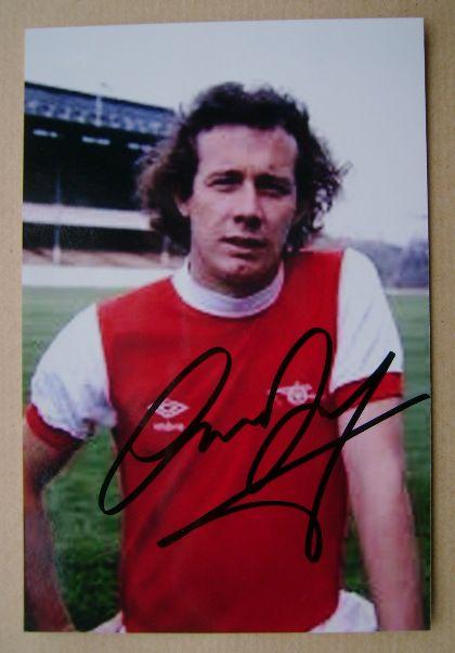 Liam Brady autograph