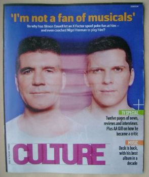 Culture magazine - Simon Cowell / Nigel Harman cover (23 February 2014)