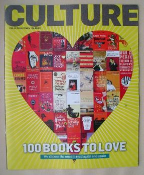 Culture magazine - 100 Books To Love cover (6 October 2013)