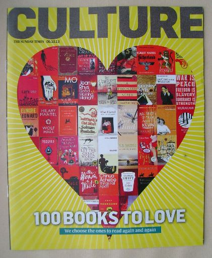 <!--2013-10-06-->Culture magazine - 100 Books To Love cover (6 October 2013