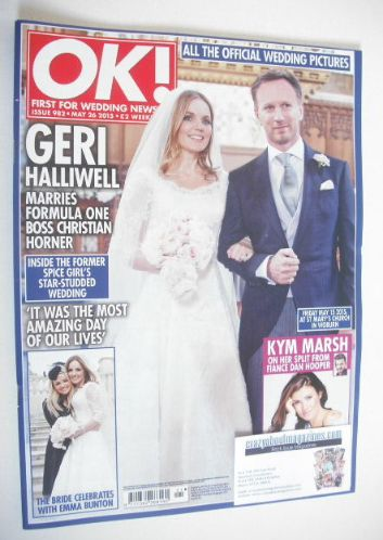 <!--2015-05-26-->OK! magazine - Christian Horner and Geri Halliwell wedding