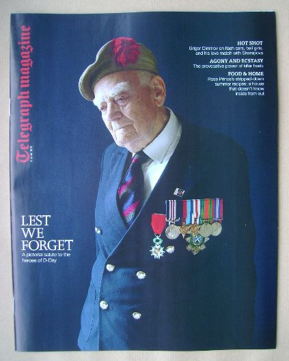 <!--2015-06-06-->Telegraph magazine - Lest We Forget cover (6 June 2015)