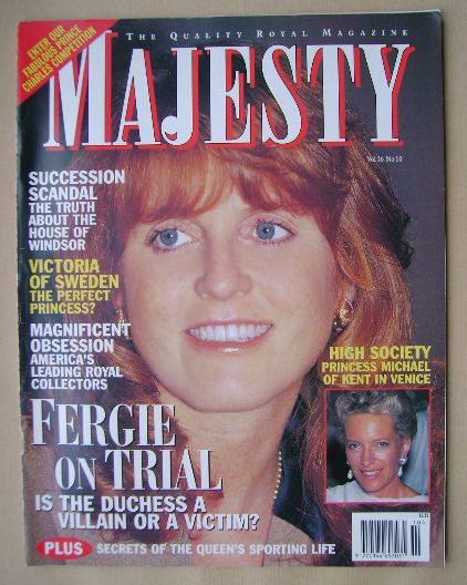<!--1995-10-->Majesty magazine - Sarah Ferguson cover (October 1995 - Volum