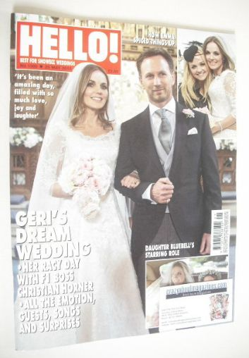 <!--2015-05-25-->Hello! magazine - Christian Horner and Geri Halliwell wedd