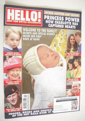 <!--2015-05-18-->Hello! magazine - Baby Princess Charlotte cover (18 May 20
