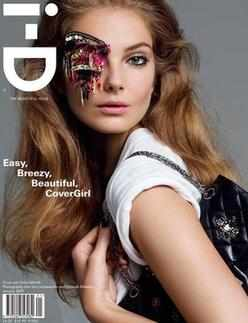 i-D magazine - Eniko Mihalik cover (January 2009)