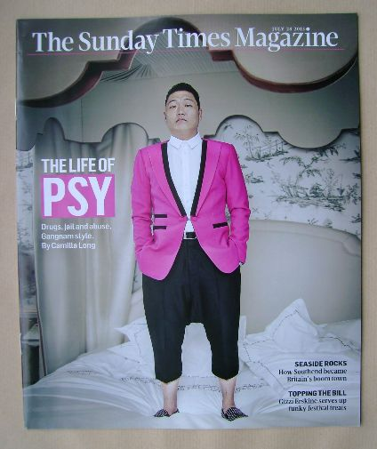 <!--2013-07-28-->The Sunday Times magazine - Psy cover (28 July 2013)