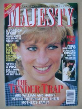 Majesty magazine - Princess Diana cover (January 1996 - Volume 17 No 1)