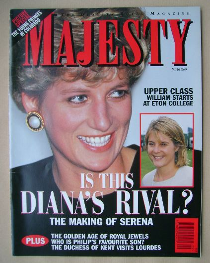<!--1995-09-->Majesty magazine - Princess Diana cover (September 1995 - Vol