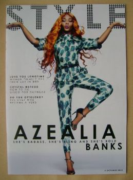 Style magazine - Azealia Banks cover (6 October 2013)