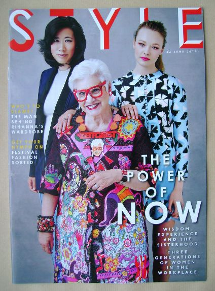 <!--2014-06-22-->Style magazine - The Power Of Now cover (22 June 2014)