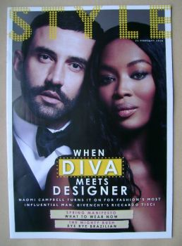 Style magazine - Naomi Campbell and Riccardo Tisci cover (23 February 2014)