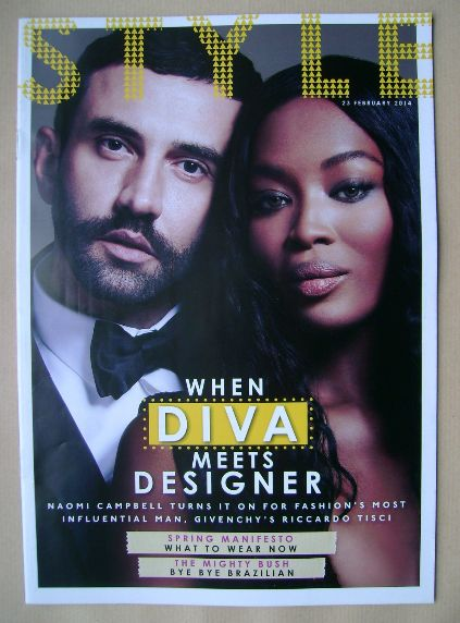 <!--2014-02-23-->Style magazine - Naomi Campbell and Riccardo Tisci cover (
