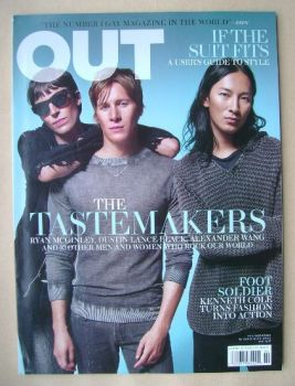 Out magazine - Ryan McGinley, Dustin Lance Black, Alexander Wang cover (October 2011)