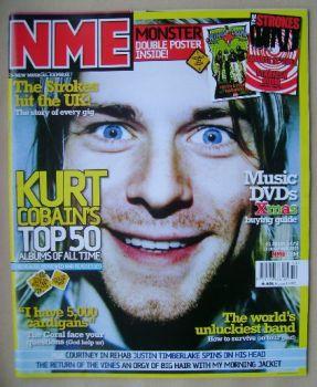 NME magazine - Kurt Cobain cover (13 December 2003)