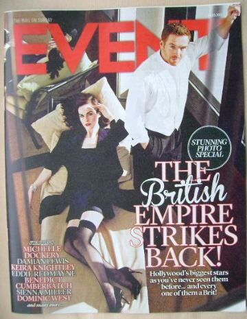 <!--2015-05-24-->Event magazine - Michelle Dockery and Damian Lewis cover (
