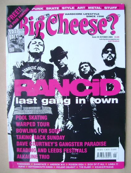 <!--2003-10-->Big Cheese magazine - Rancid cover (October 2003)