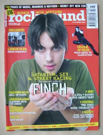 <!--2003-03-->Rock Sound magazine - Nate Barcalow (Finch) cover (March 2003