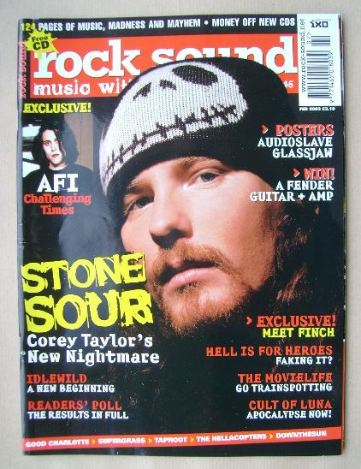 <!--2003-02-->Rock Sound magazine - Corey Taylor cover (February 2003)