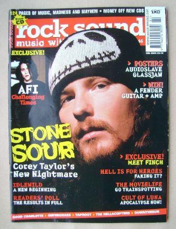 <!--2003-02-->Rock Sound magazine - Corey Taylor cover (February 2003)
