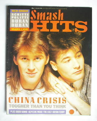 <!--1985-06-05-->Smash Hits magazine - China Crisis cover (5-18 June 1985)