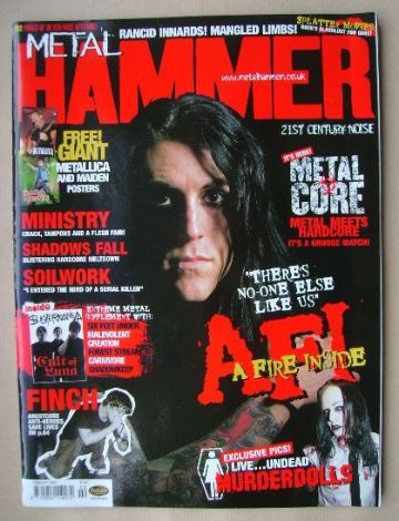 <!--2002-02-->Metal Hammer magazine - Davey Havok cover (February 2002)