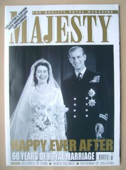 Majesty magazine - The Queen and Prince Philip cover (November 2007 - Volume 28 No 11)