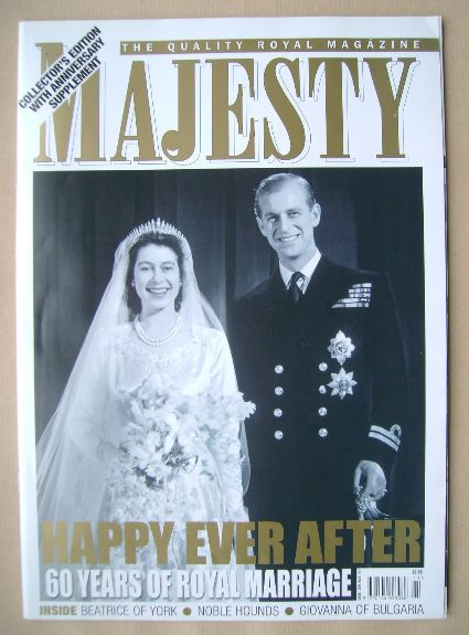 <!--2007-11-->Majesty magazine - The Queen and Prince Philip cover (Novembe