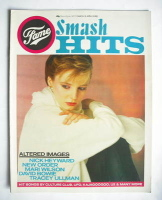 <!--1983-03-31-->Smash Hits magazine - Clare Grogan cover (31 March - 13 April 1983)