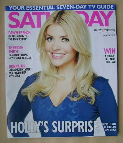 <!--2015-06-20-->Saturday magazine - Holly Willoughby cover (20 June 2015)