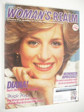 <!--1984-06-23-->Woman's Realm magazine (23 June 1984 - Princess Diana cove