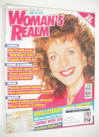 <!--1989-06-20-->Woman's Realm magazine (20 June 1989 - Lizzie Webb cover)