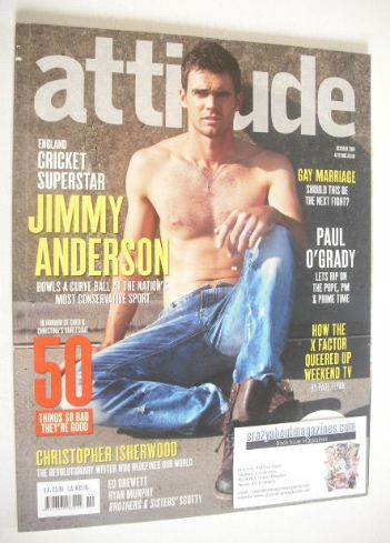 <!--2010-10-->Attitude magazine - Jimmy Anderson cover (October 2010 - Issu